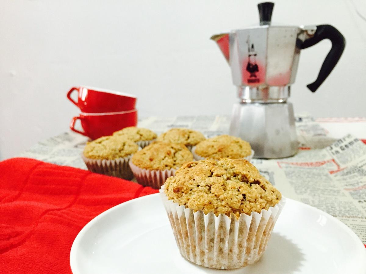 Muffins supersanos de avena yplátano