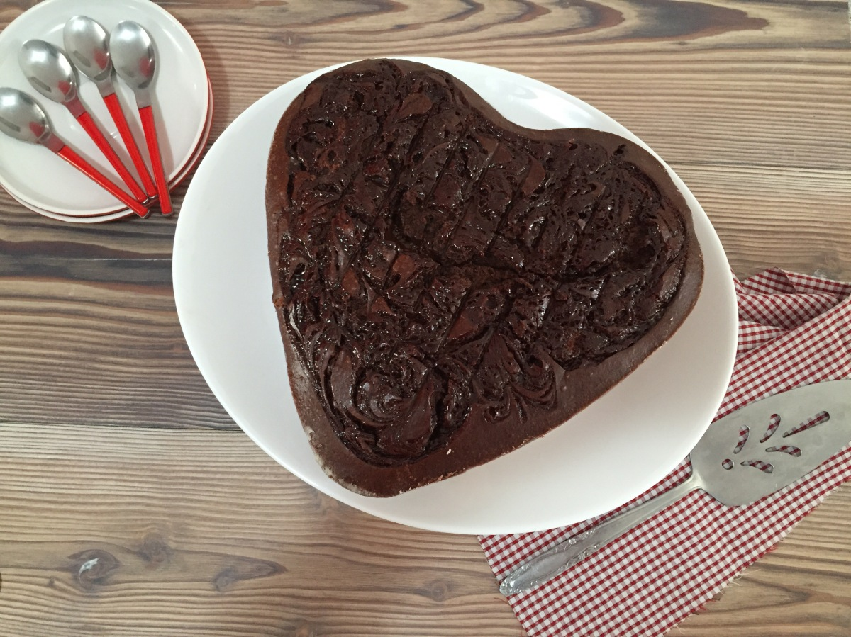 Pastel de chocolate para SanValentín