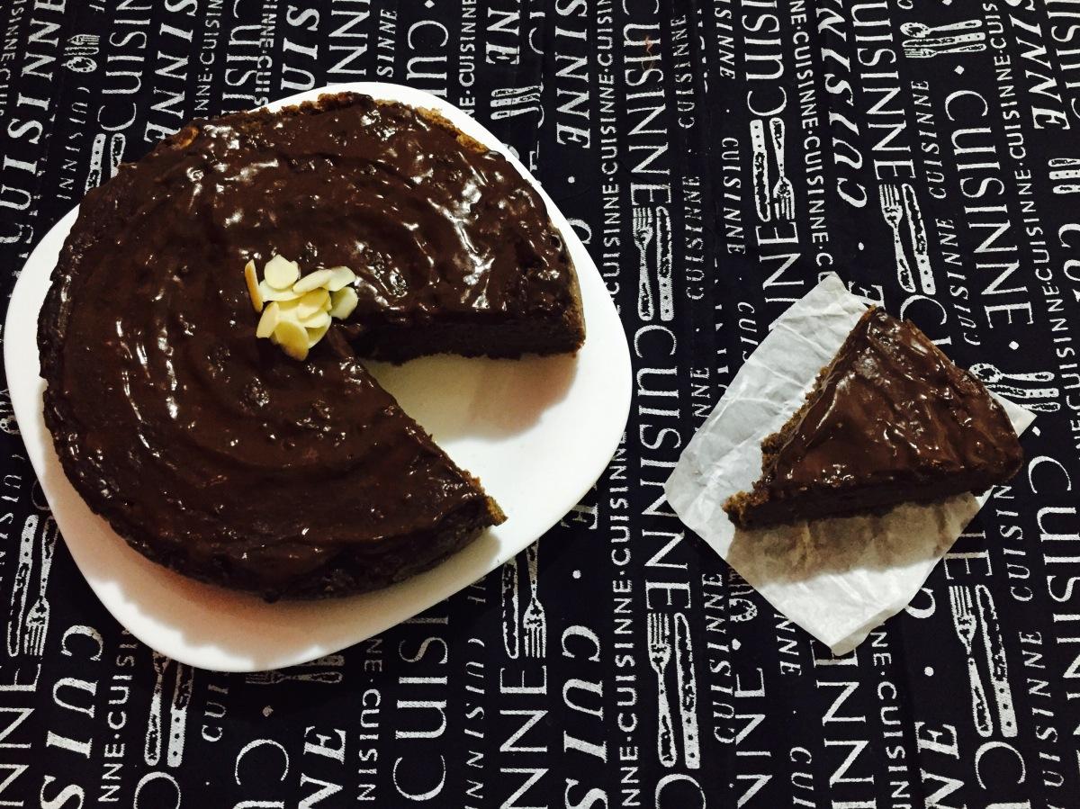 Pastel vegano de chocolate ycalabaza