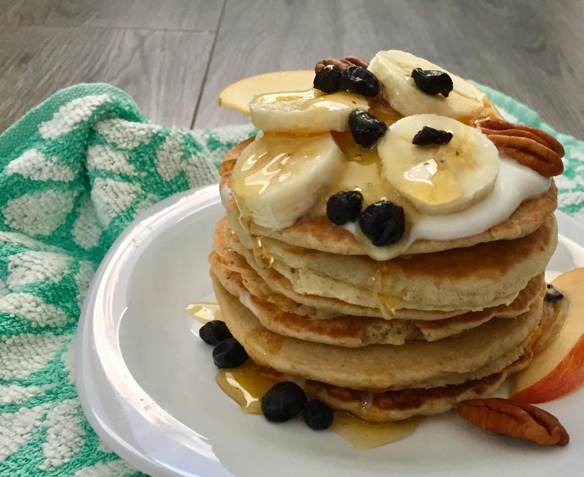 Hotcakes sanos de avena (tortitas americanas de avena, panqueques deavena)
