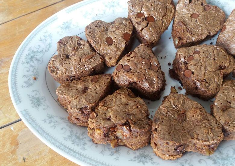 Mi receta perfecta de brownie y 8 ideas más para un dulce SanValentín