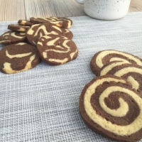 Espirales de vainilla y chocolate