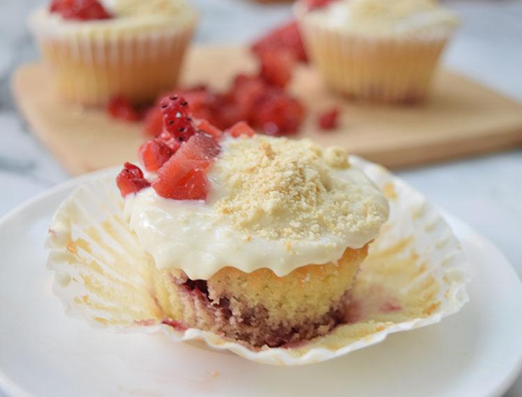 Cupcakes de fresa ¡Felices 4años!